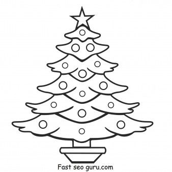 Free Print out christmas tree coloring pages for kids.