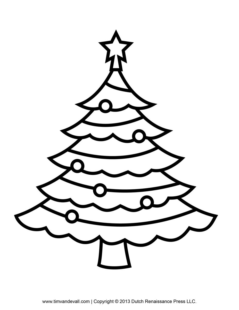 Best Photos of Christmas Tree Outline Drawing.