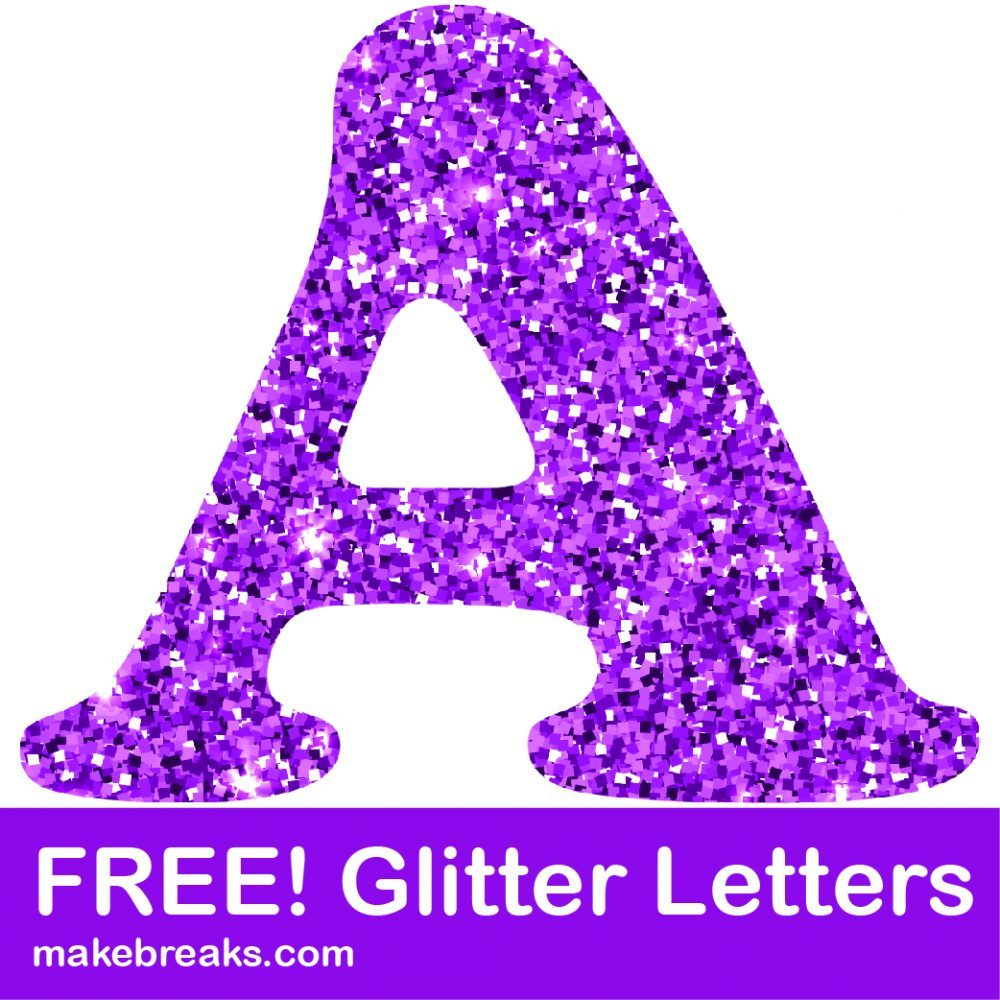 Free Printable Purple Glitter Letters to Download.