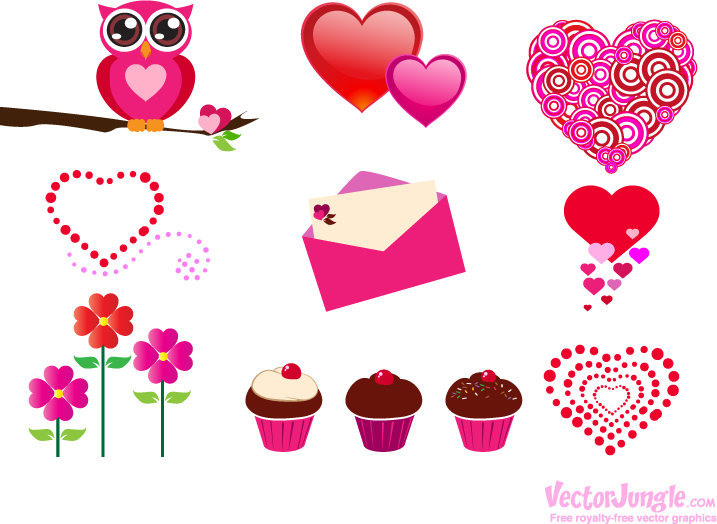 18 Free Vector Valentine's Day Images.