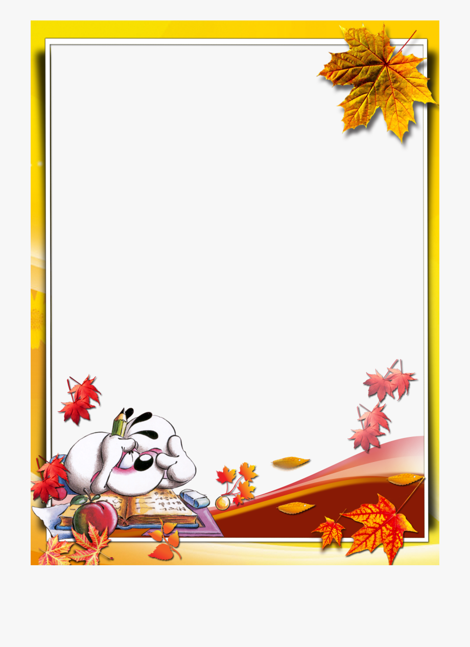 Otoño Free Printable Stationery, School Clipart, Borders.