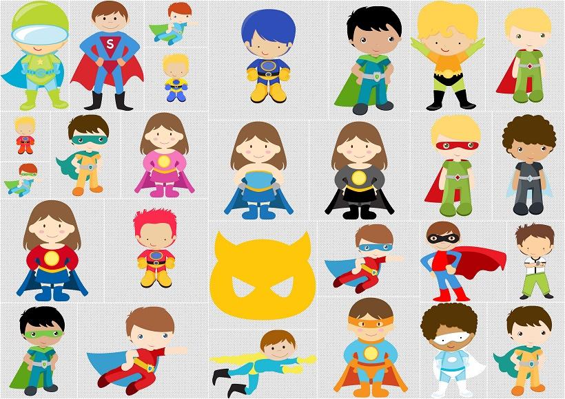 Kids Dressed As Superheroes Clipart Oh My Fiesta For Geeks.