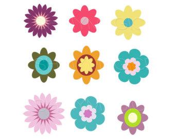 Flower clip art printable.