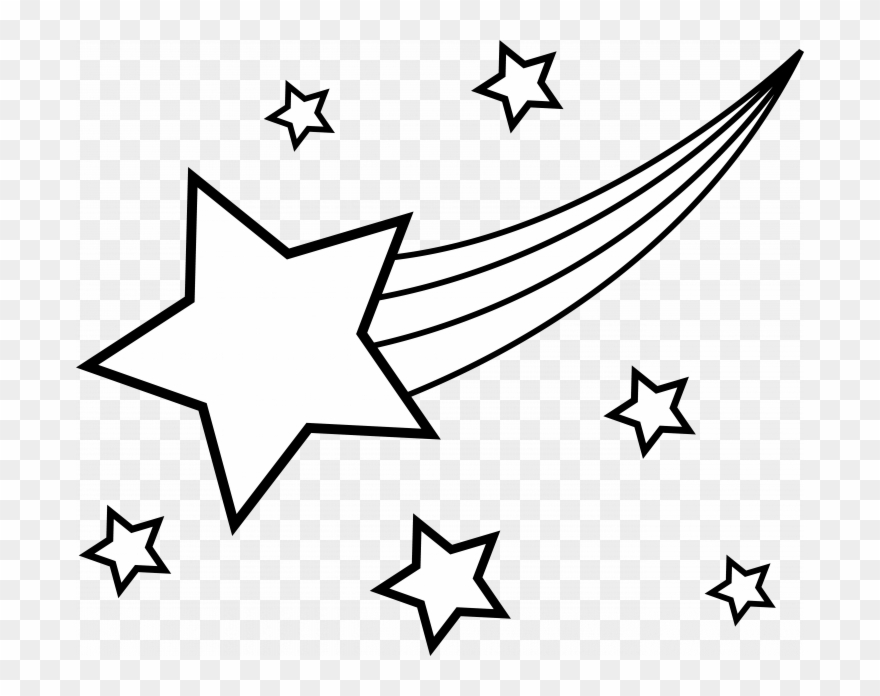 Shooting Star Free Printable Coloring Page.