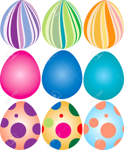 Easter Egg Printable Clipart.
