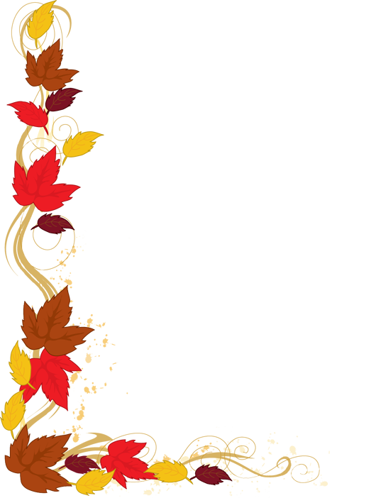 Clip Art of a Background of Autumn Leaves Falling from a.