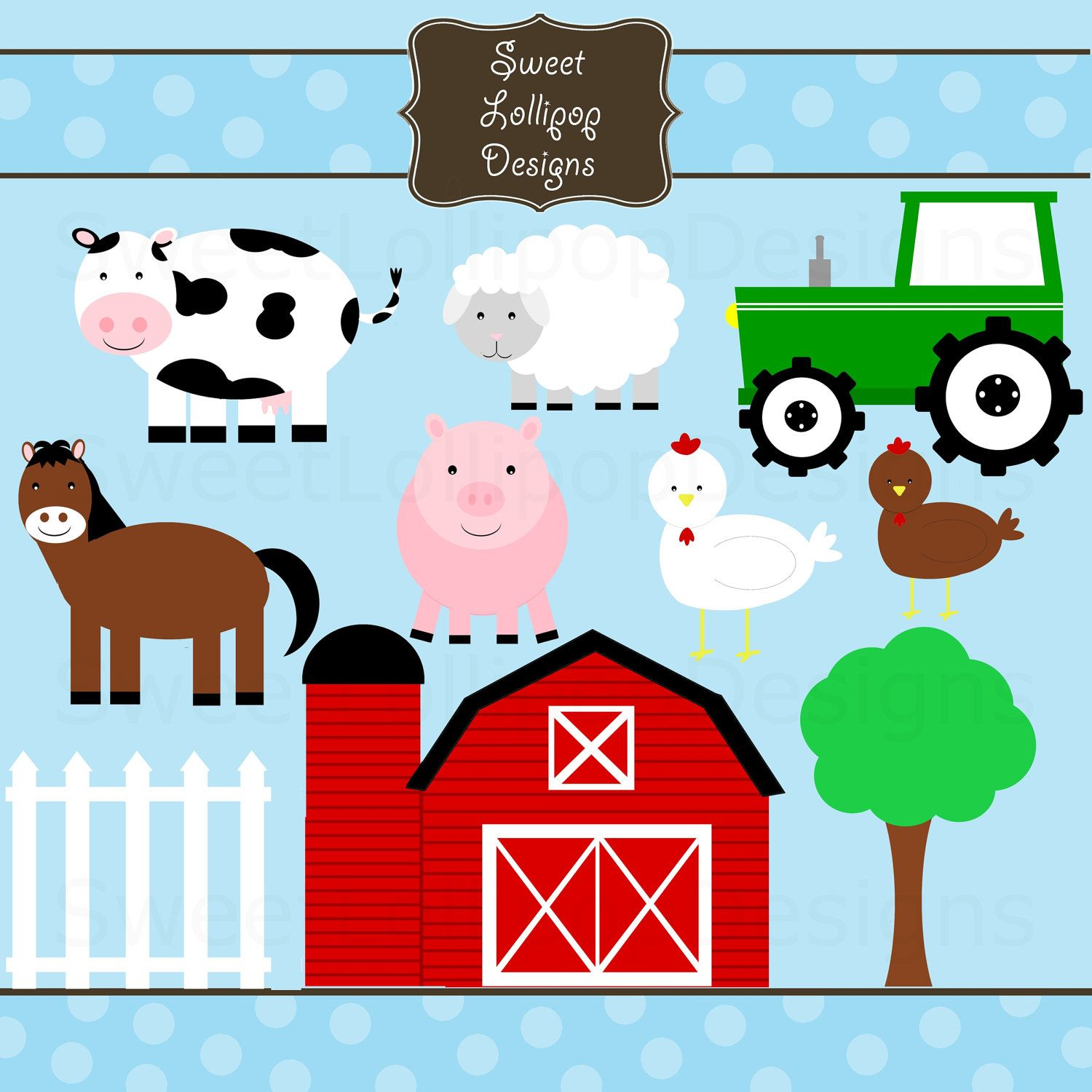 clipart farm animals.