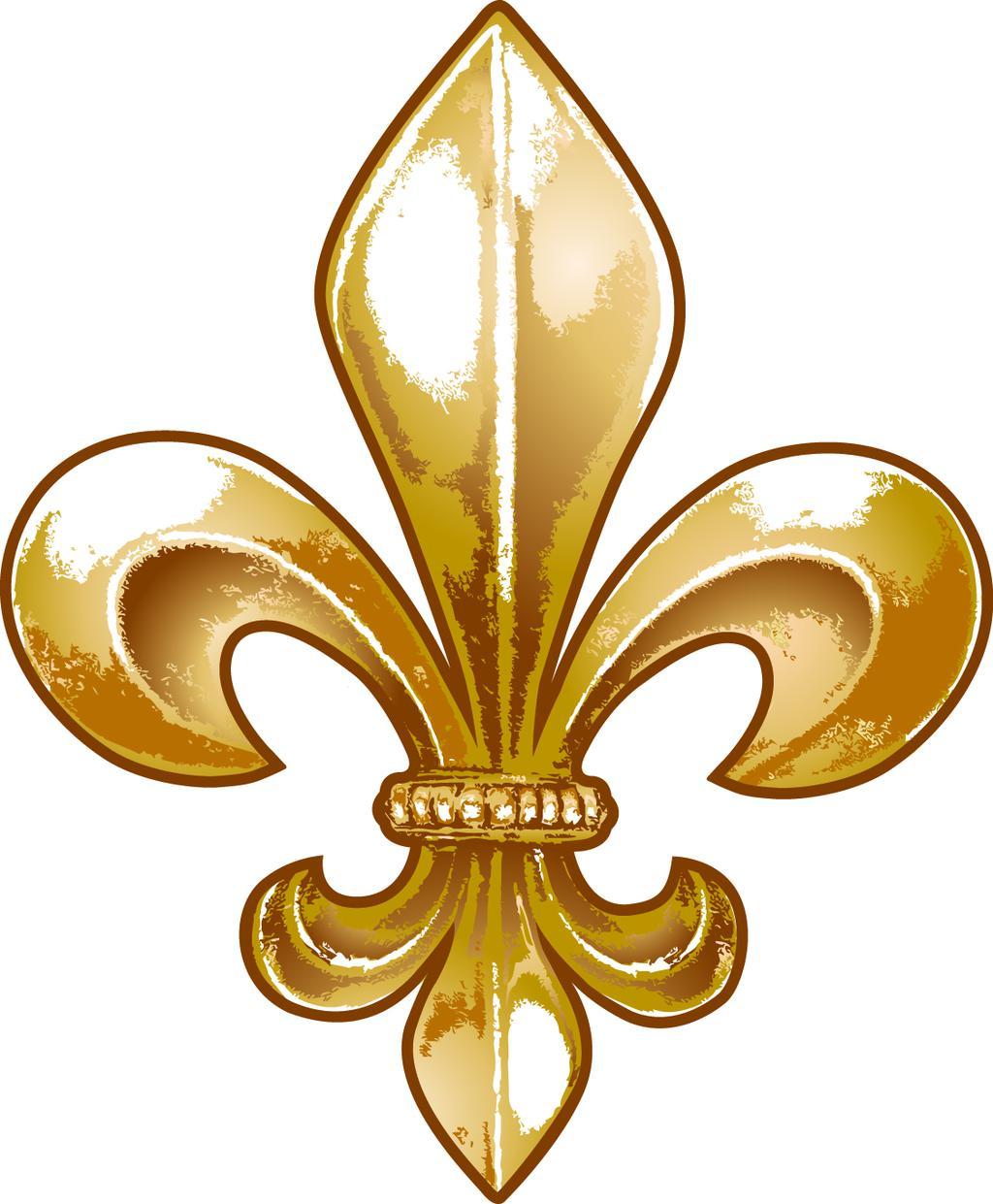 Gold Fleur De Lis Clipart Abita Fluer.