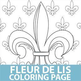 Lots of Free Printables: Fleur De Lis Coloring Page.