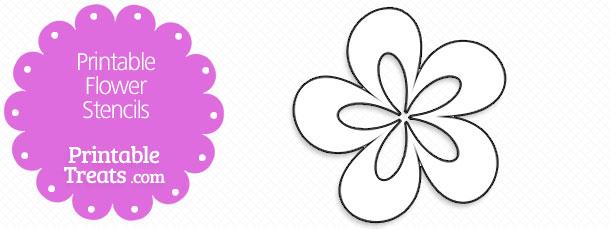 Printable Flower Stencils — Printable Treats.com.