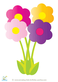Free Printable Flowers Decoration.