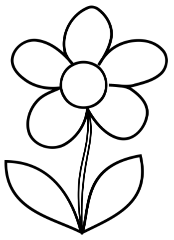 Simple Flower Coloring Page.