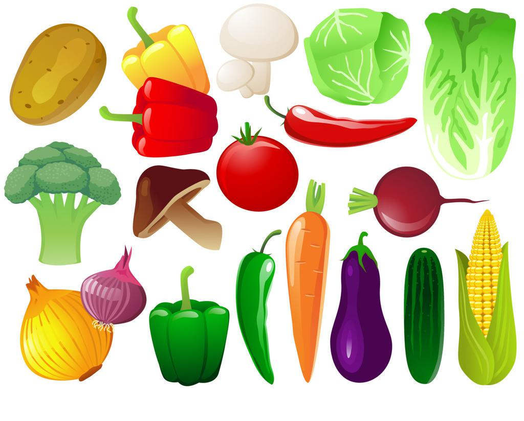 Food Items Clipart And Play Design.