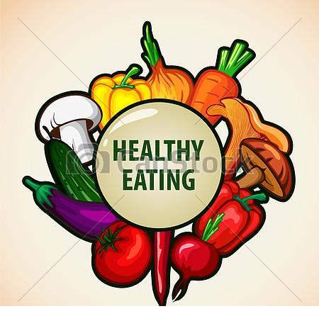 Free Nutritious Food Clipart Healthy Menu Vector.