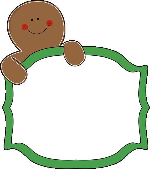 Free Gingerbread Clip Art Borders.