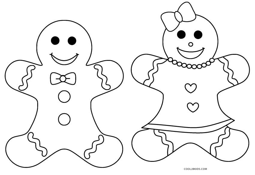 Free Printable Gingerbread Man Coloring Pages For Kids.