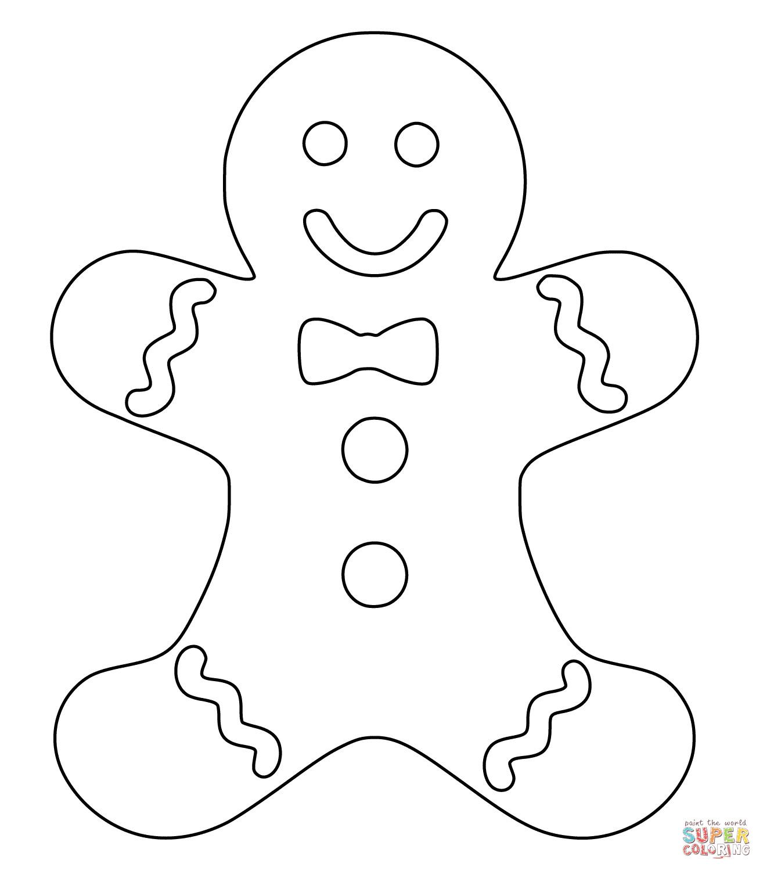 Printable Gingerbread Man Coloring Pages at GetDrawings.com.