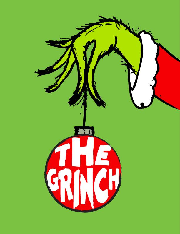 The Grinch Free Art Printable for Christmas.