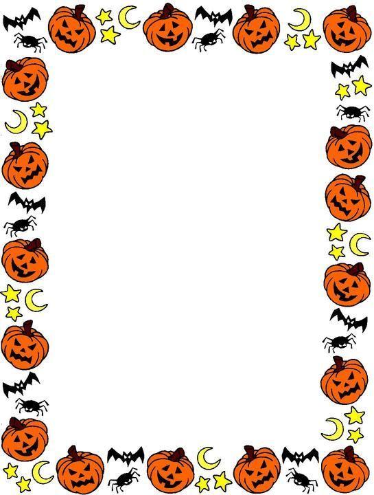 Free Printable Halloween Page Borders.