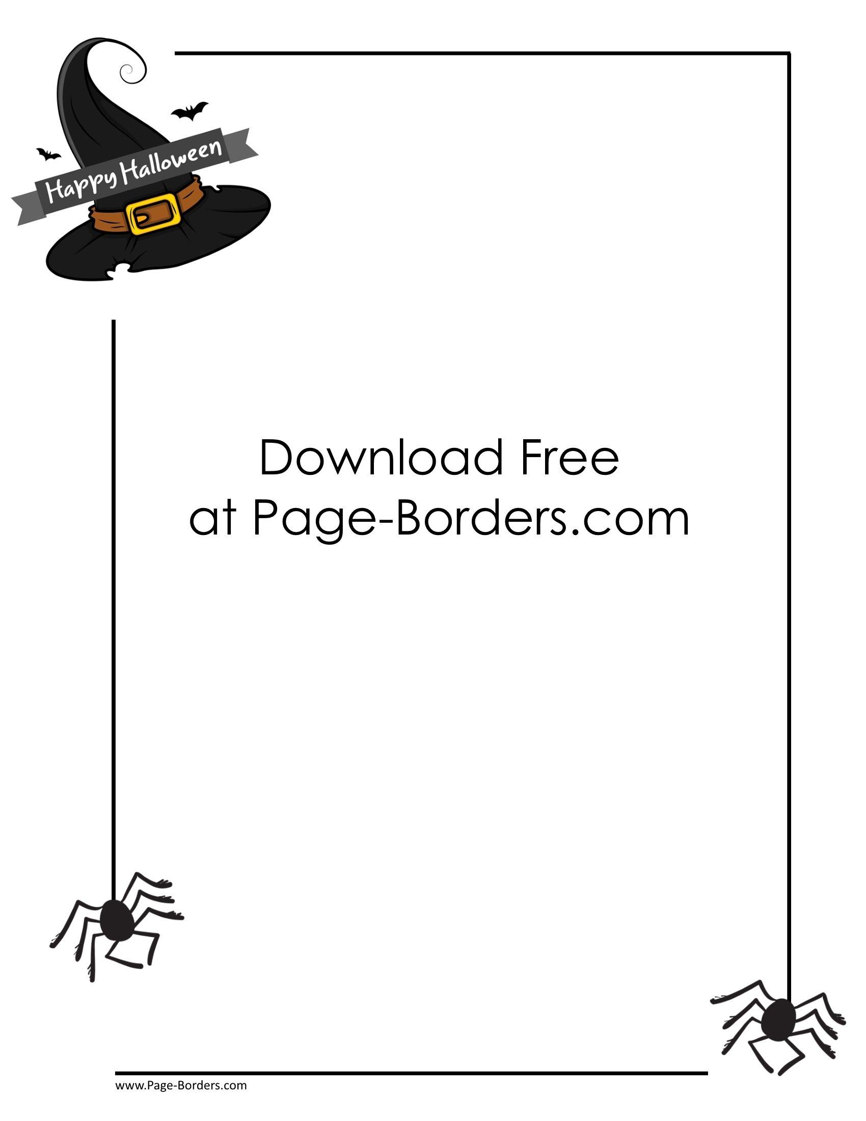 Free Halloween Border Printables.
