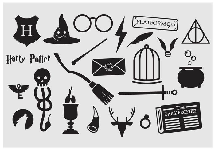 Harry Potter Vector Icons.