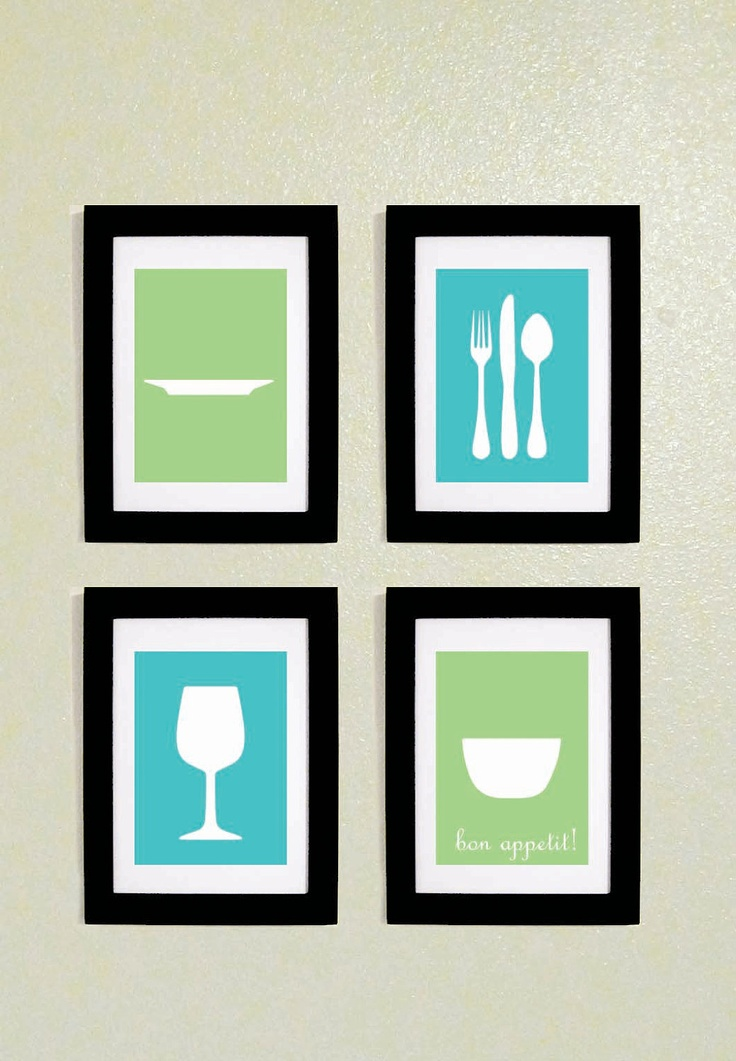 Kitchen Wall Art Printables 5x7.