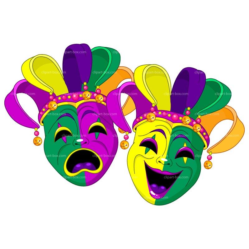 Mardi Gras Clipart Mask.