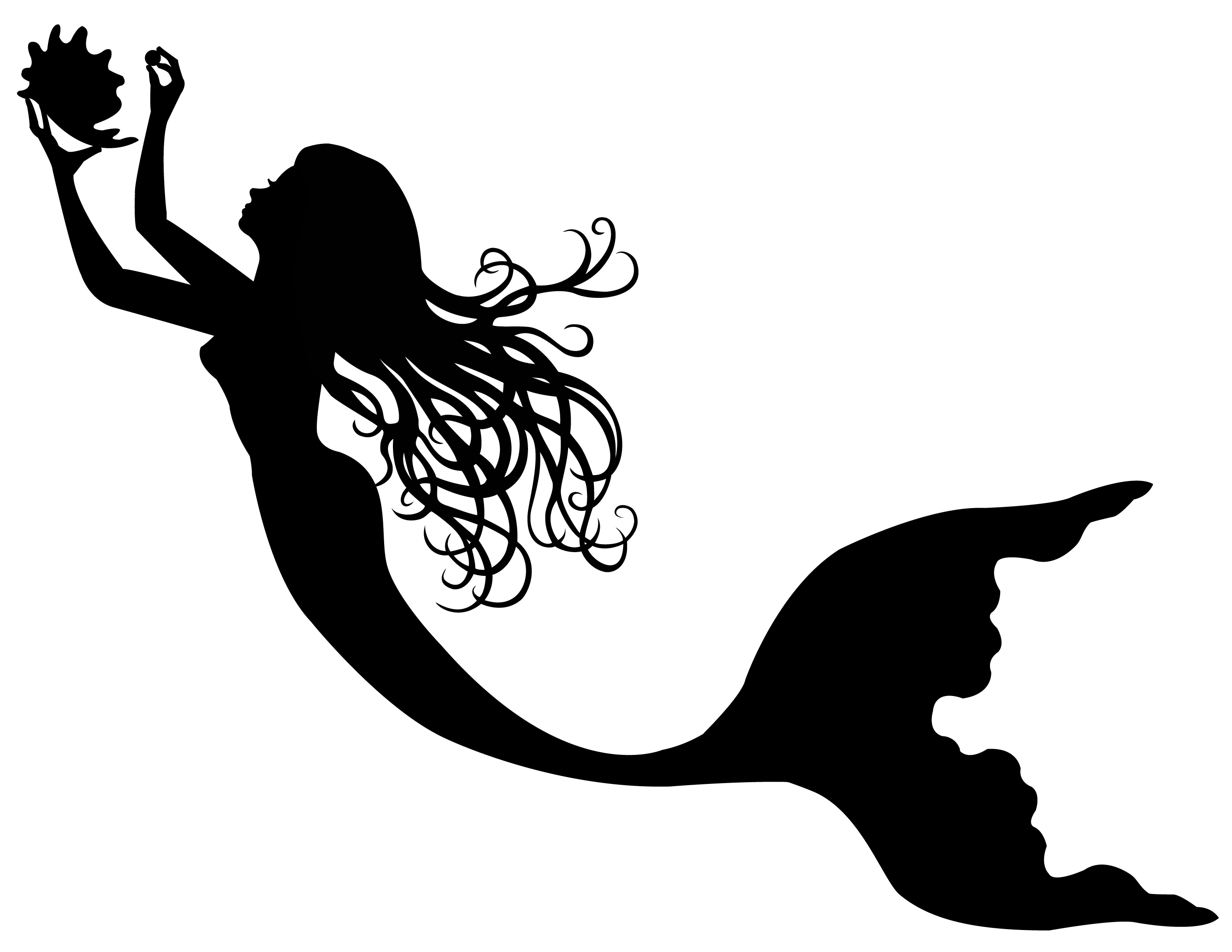 Free Printable Mermaid Silhouette, Download Free Clip Art.