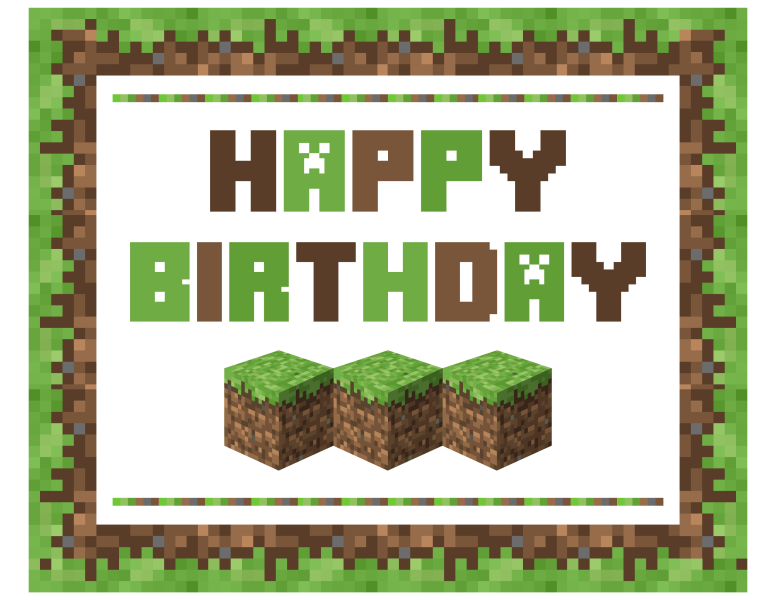 FREE Minecraft Printables.