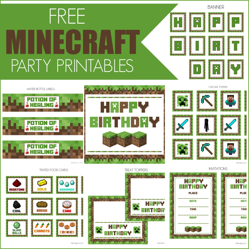 Free Minecraft Party Invitation Template Newest.