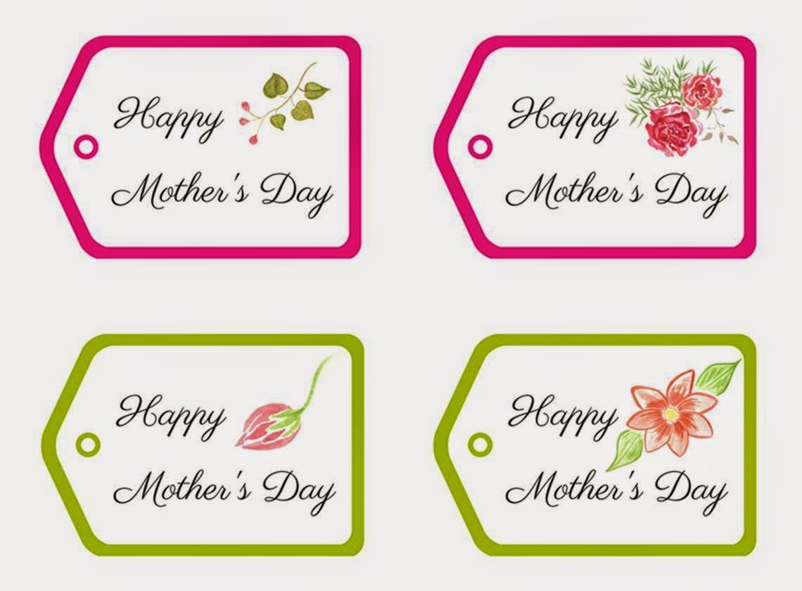Mother's Day Tags.