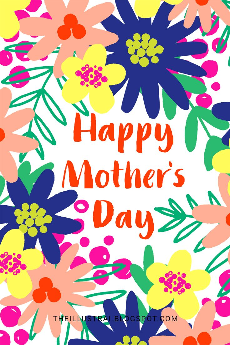 Free Printable Mother\'s Day Card + Envelope Liner.