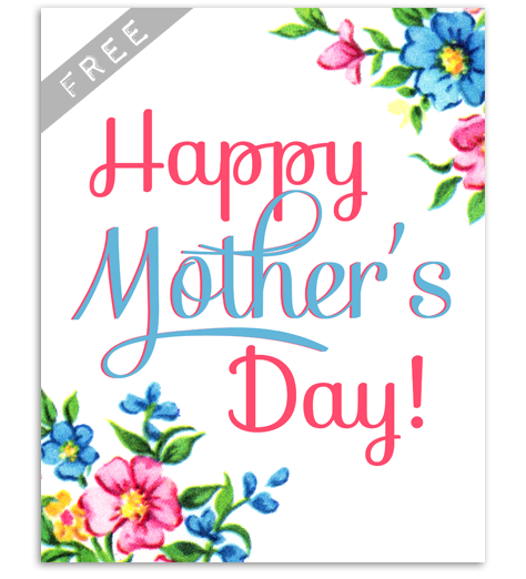 FREE Vintage Mother\'s Day Party Printables.