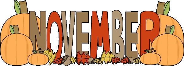November Clipart Banner.