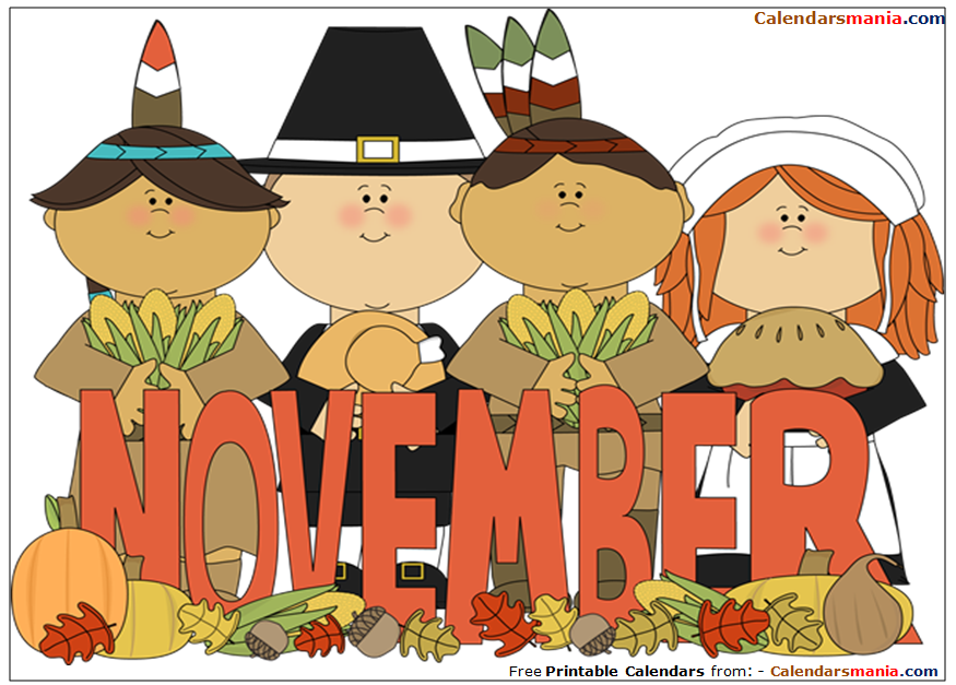 Month of November Clipart.
