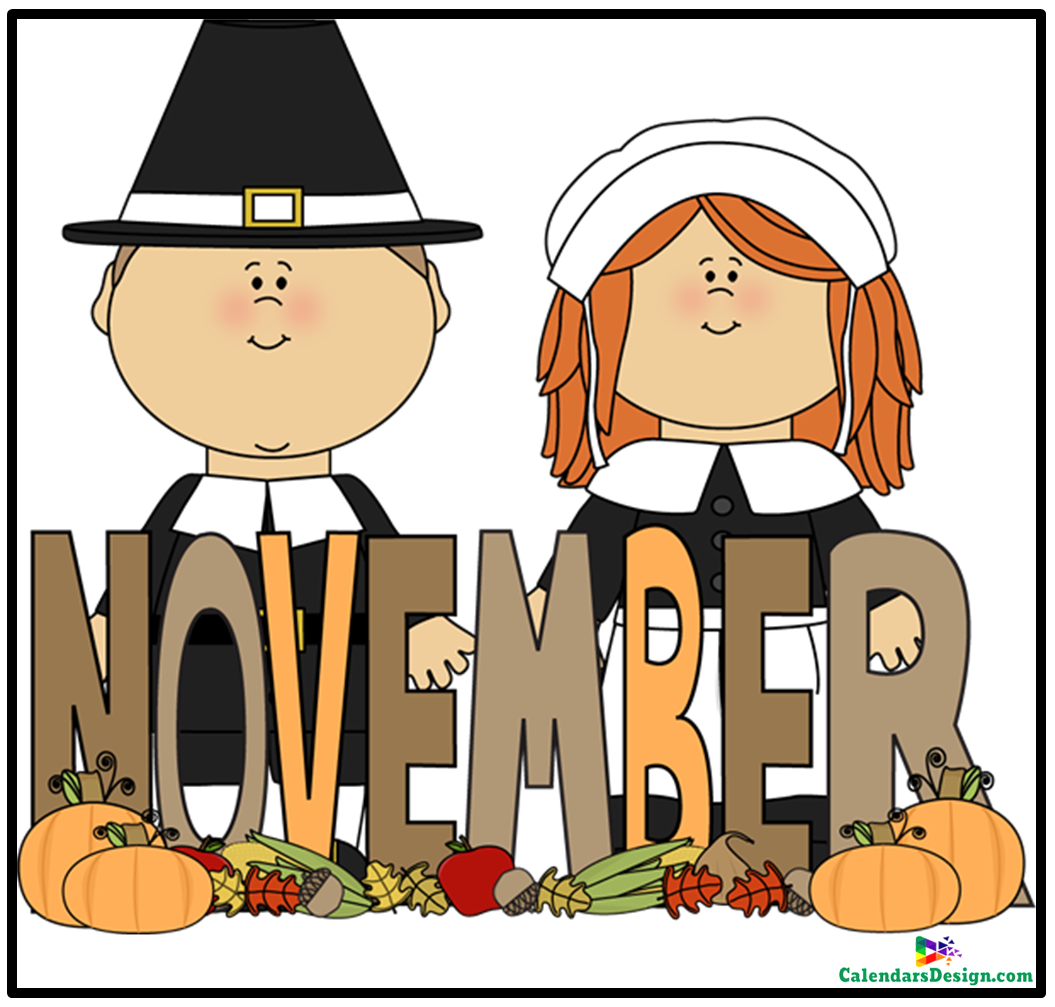 Month of November Clip Art.