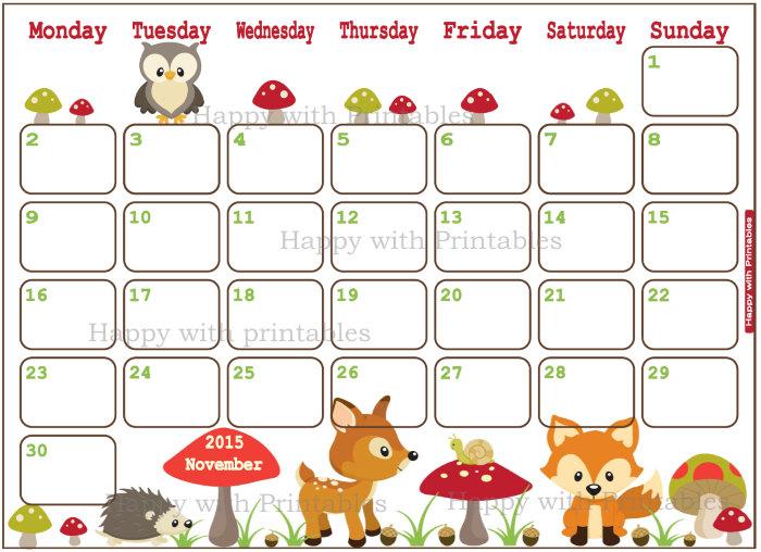 Free November Calendar Cliparts, Download Free Clip Art, Free Clip.