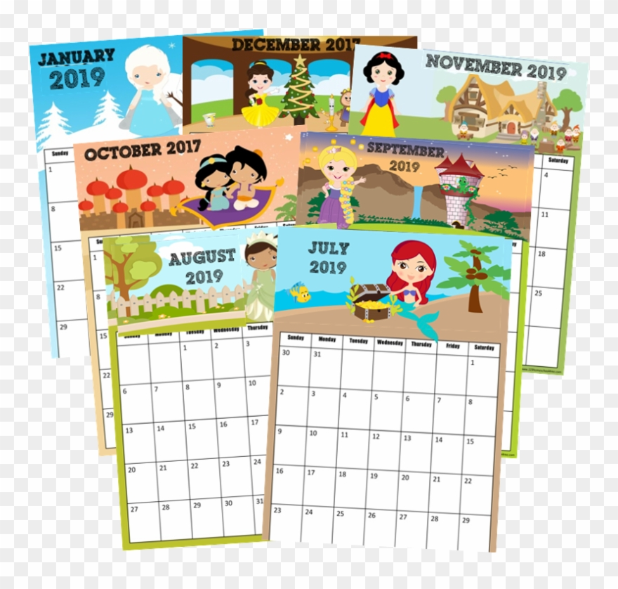 November 2018 Disney Calendar , Png Download.