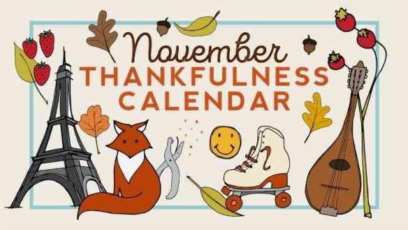 Free Printable: November Thankfulness Calendar.