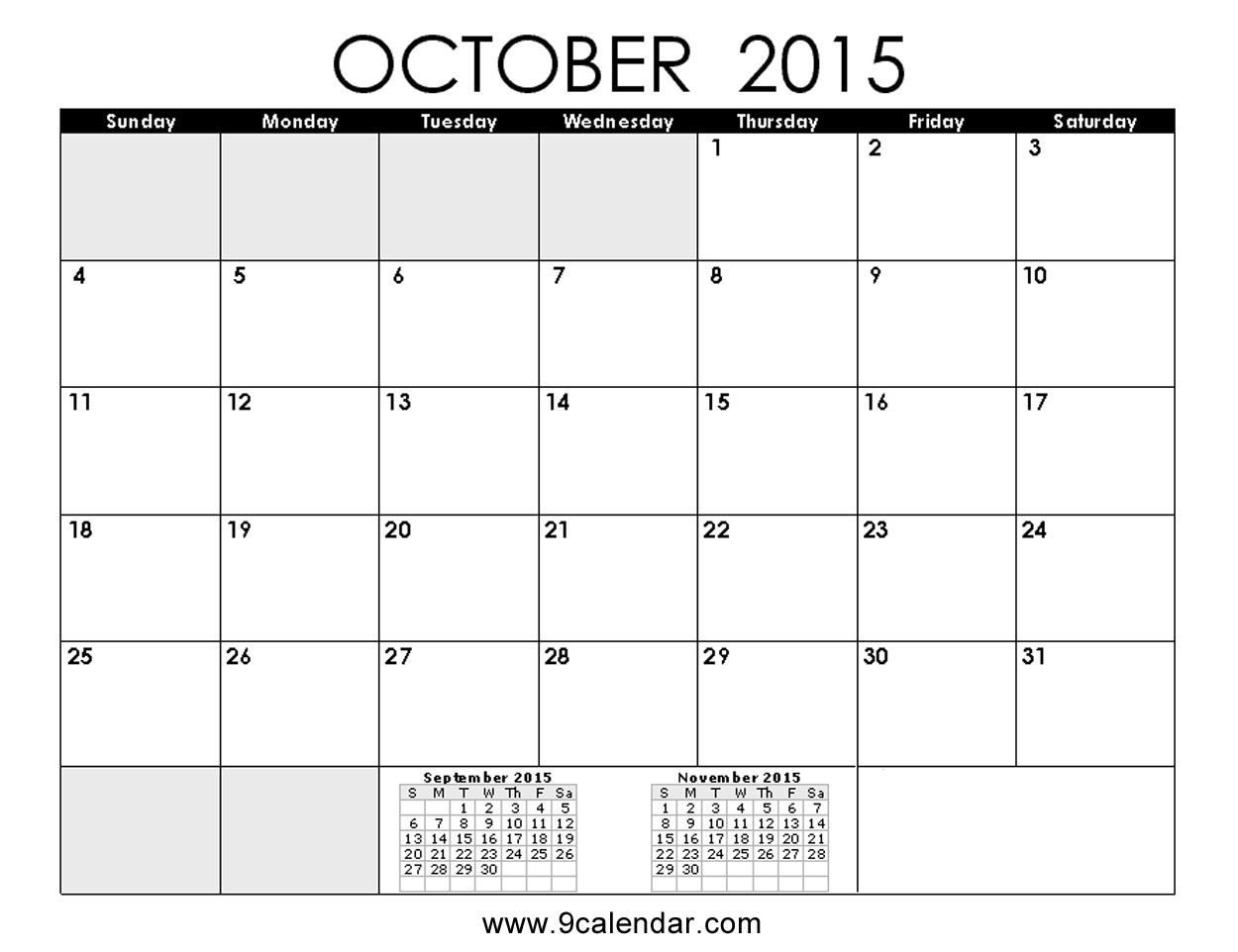 Free printable october 2015 calendar clipart clipground october 2015 calendar printable template saigontimesfo