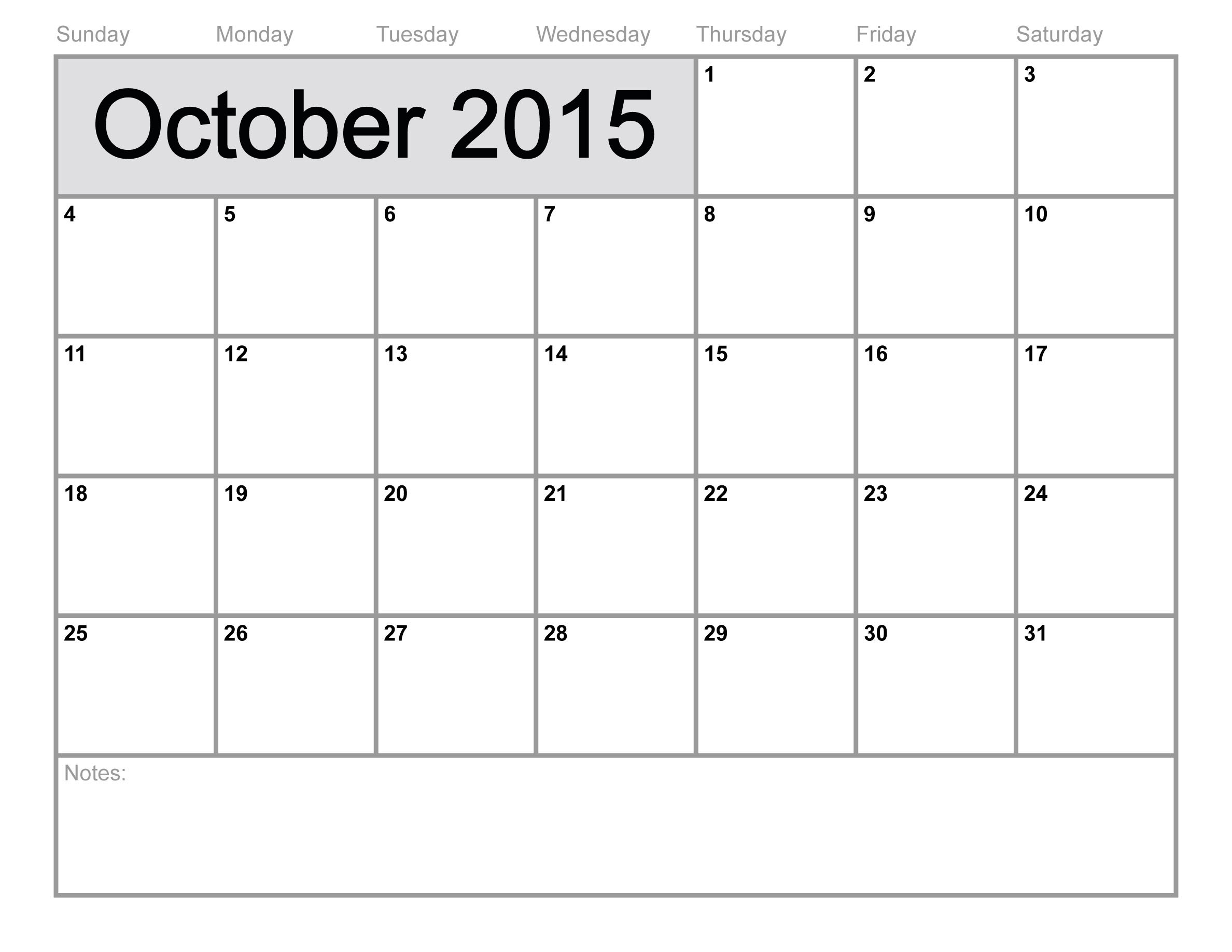October 2015 Calendar Philippines, Tumblr, Pictures, Images.