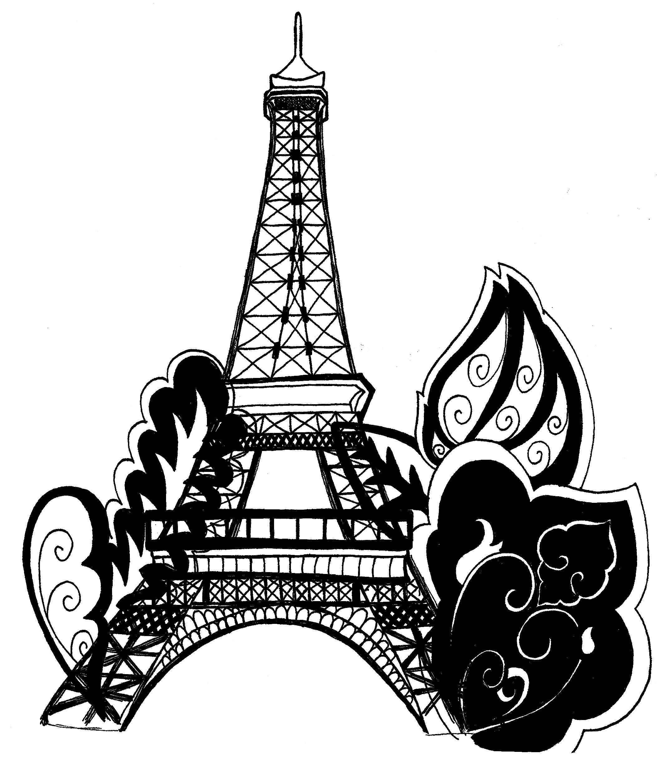 Torre Eiffel Vector Clipart.