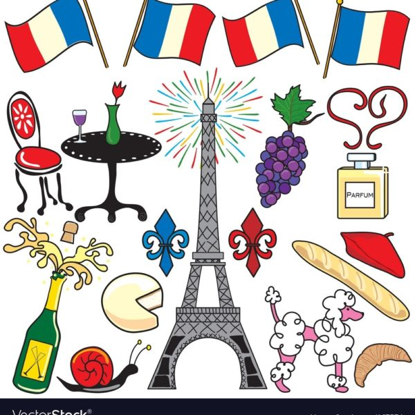 Paris France Clipart Elements Royalty Free Vector Image intended for.