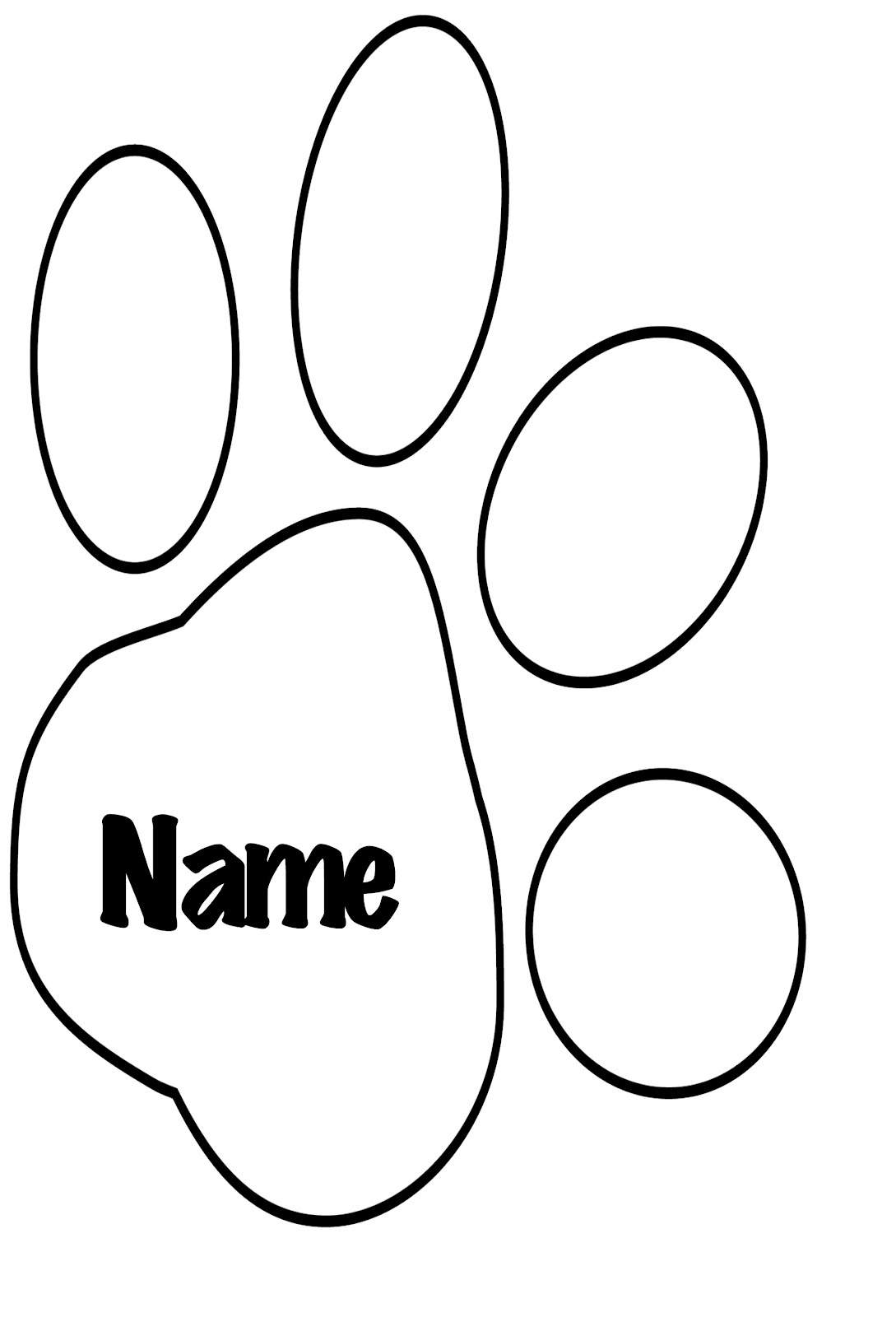 Paw Print Template.