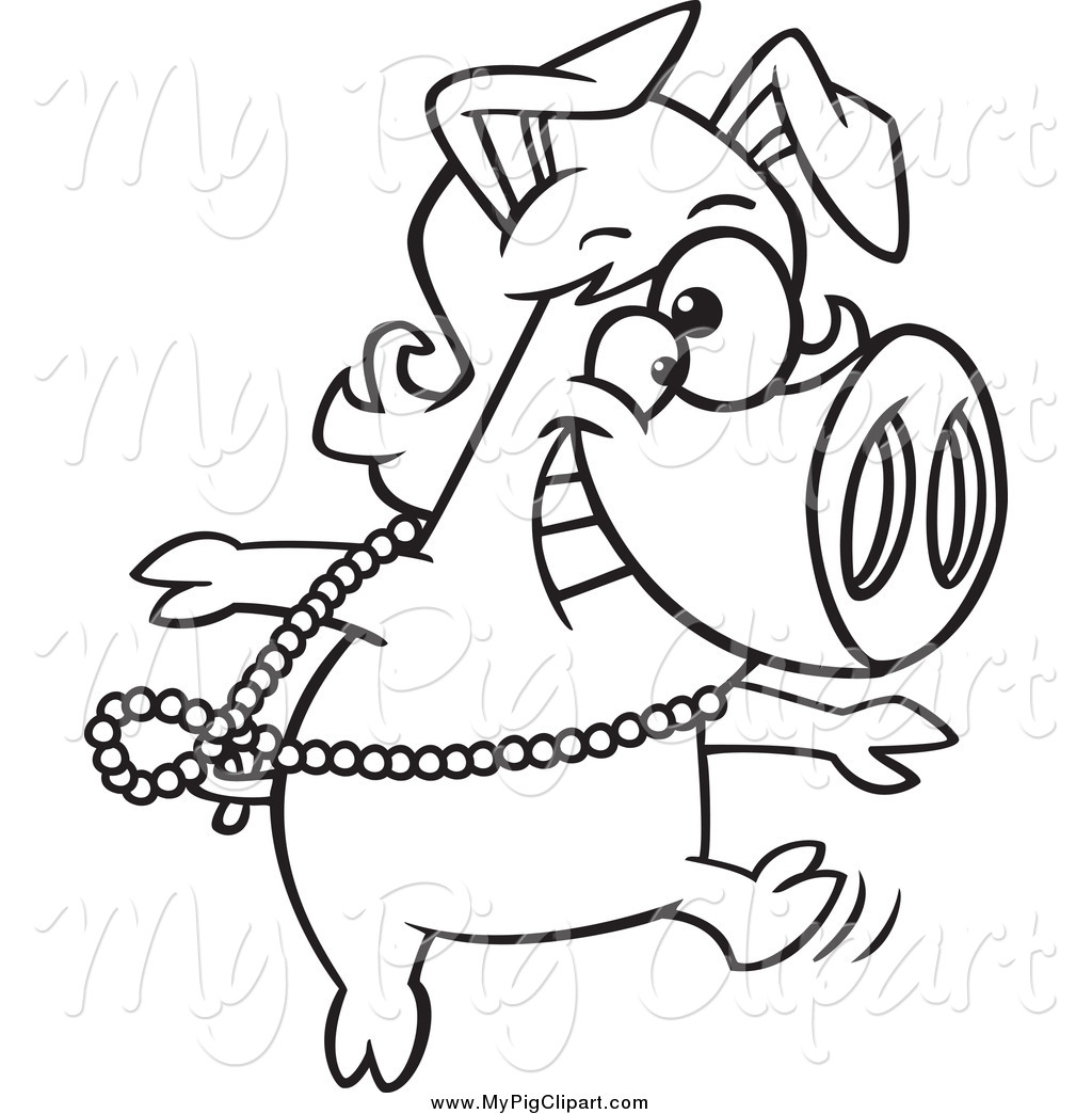 Royalty Free Stock Pig Designs of Printable Coloring Pages.