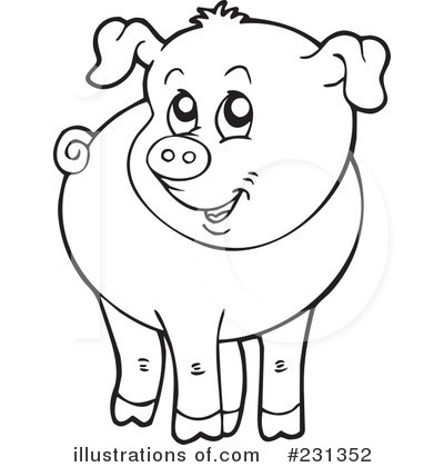 Pig Clipart Black And White & Pig Black And White Clip Art Images.