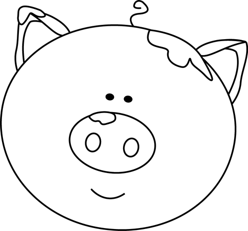 2490 Pig Clipart Black And White Pig Clipart Black And White.
