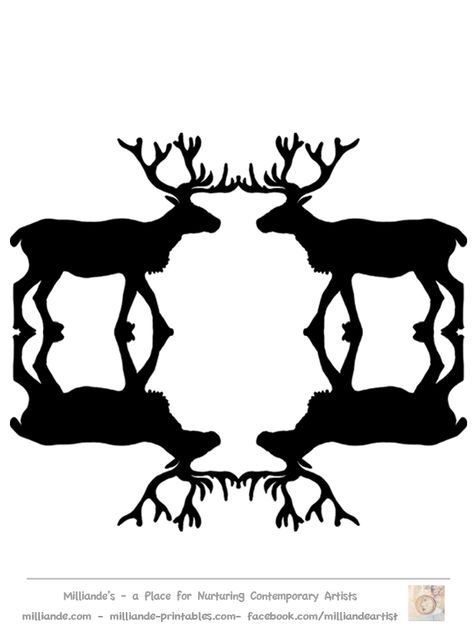 Free Reindeer CLipart Silhouettes for Printable Reindeer.