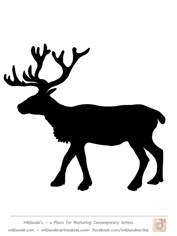 Free Reindeer Clipart Silhouettes of Reindeer Stag Picture.