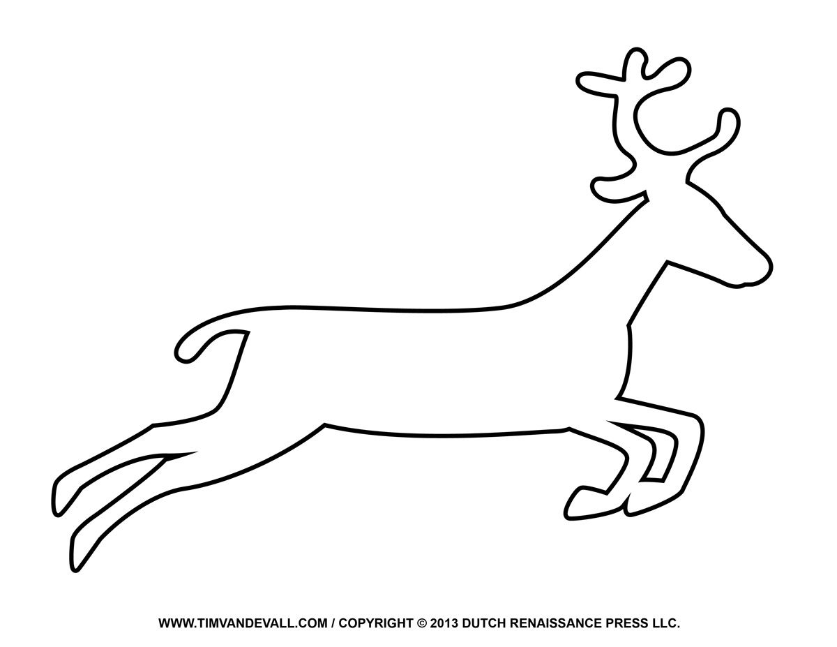Free Reindeer Clipart Template Amp Printable Coloring Pages.